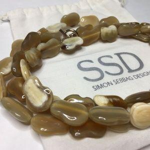 """Rare Vtg 48"""" Long Simon Sebbag Designs Necklace"""